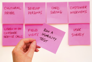 """affinity diagraming using sticky notes"""