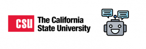 CSU The california state university with image of robot