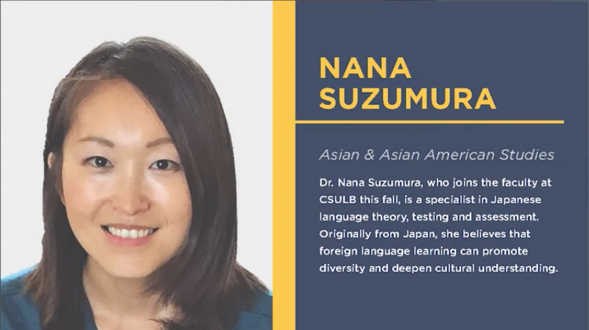 Welcome Dr. Nana Suzumura, Assistant Professor of Japanese (Japanese Language & Pedagogy)!