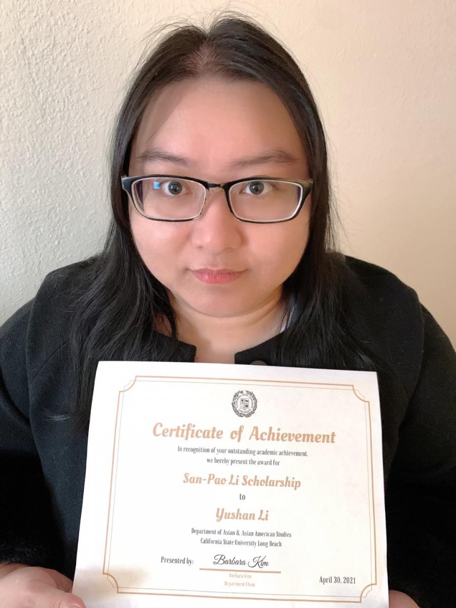 Yushan Li, San-Pao Li Scholarship
