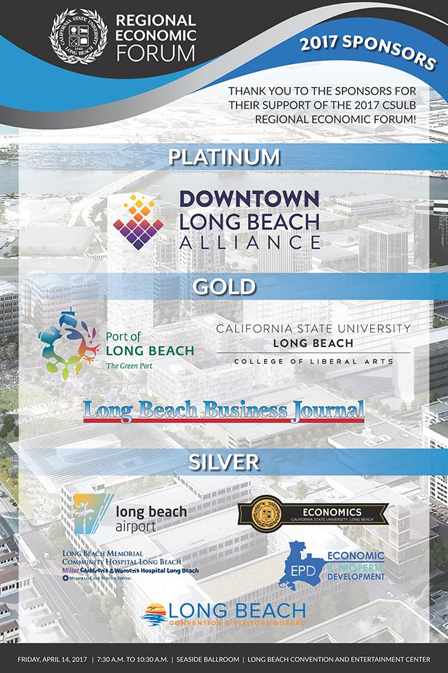 CSULB 2017 Economic Forum Sponsor Poster