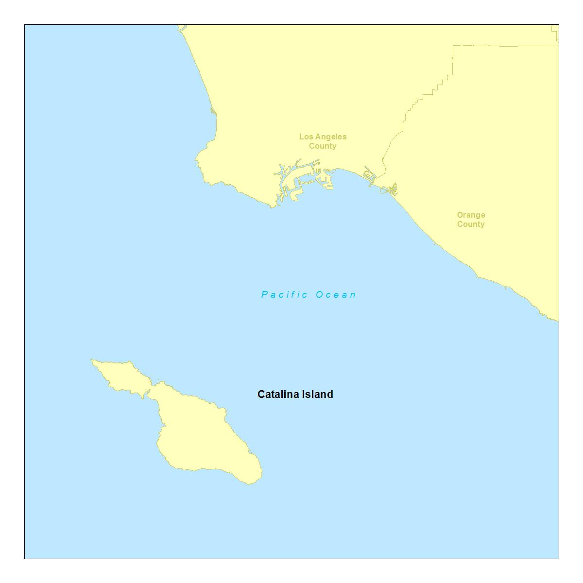 Map of Catalina Island study area