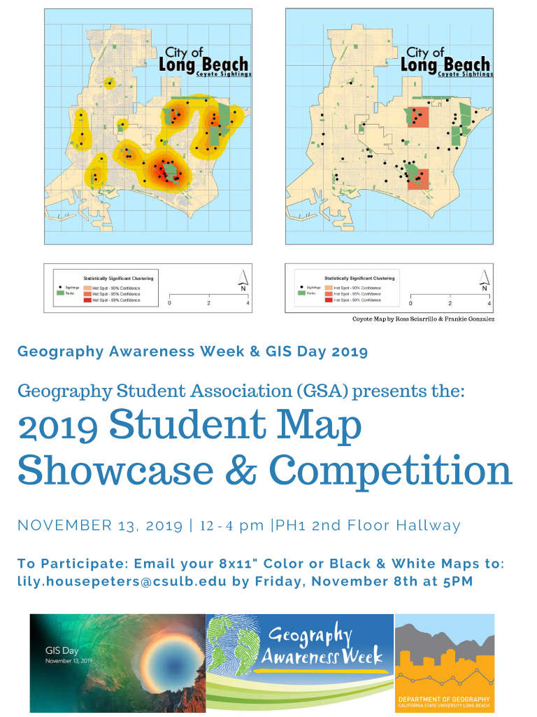2019 Student Map Showcase and Competition Flyer