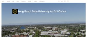 Image of ArcGIS Online home page banner