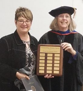 Alumni Award - Stephanie D'Costa (Assoc. Dean Manke accepting award on behalf)