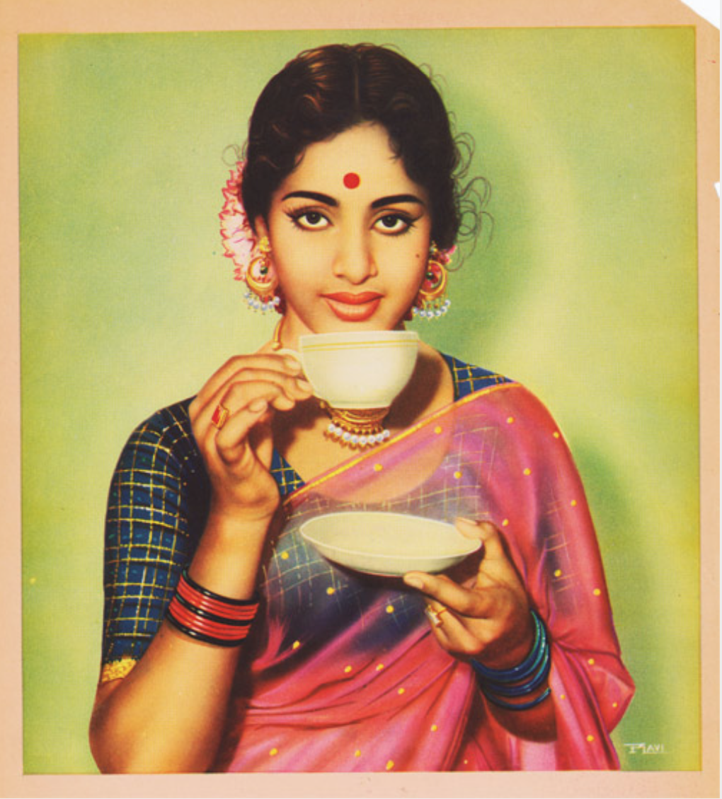 Vintage Image of a Tea Drinker