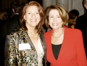 Alumna with Nancy Pelosi