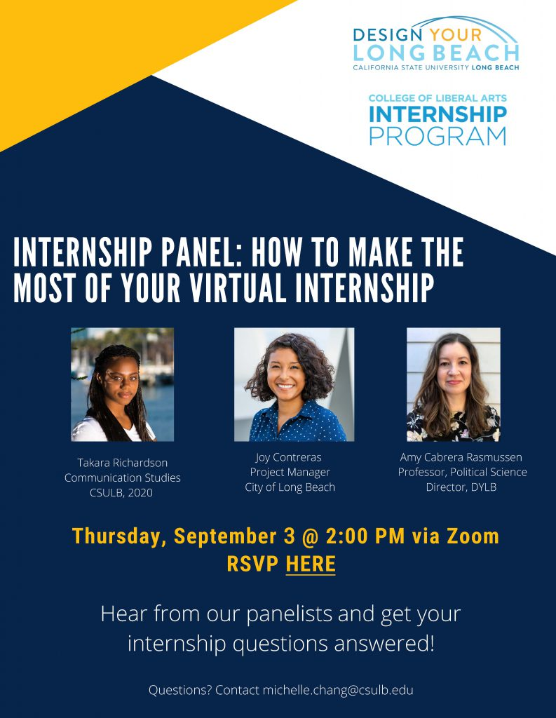 HOW TO MAKE THE MOST OF YOUR VIRTUAL INTERNSHIP Flyer