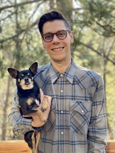 Darin DeWitt and dog