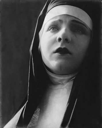 Myrtle Reeves as a religious in a nun's habit