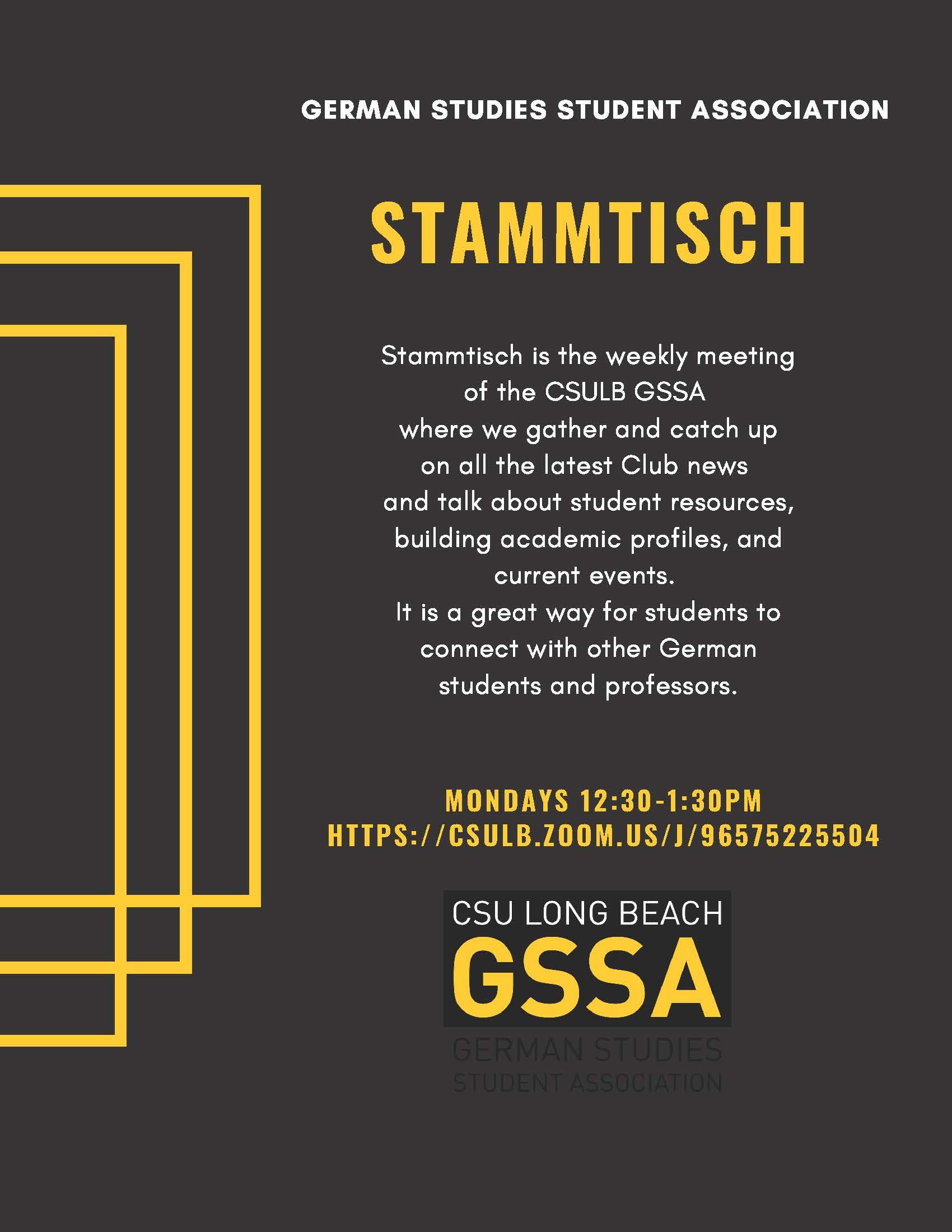 STAMMTISCH – Romance, German, Russian Languages and Literatures
