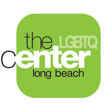 """The logo has a white background with a green square. Inside the square it states, """"the LGBTQ center of Long Beach""""."""