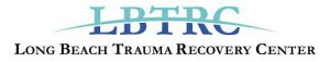 The logo has Long Beach Trauma Recovery Center as an acronym in the color blue and teal with a line through it.