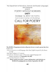 Poetry without borders 2015