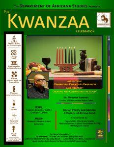 Pre-Kwanzaa 2015 Announcement