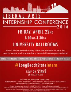 internship conference flyer