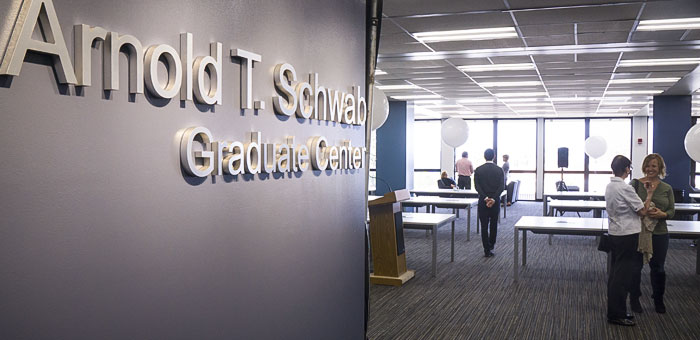 The Arnold T. Schwab Graduate Center on the fifth floor of the University Library.