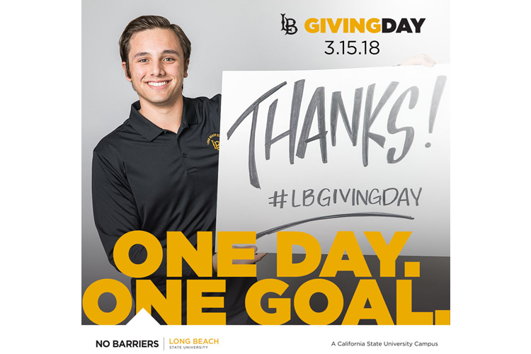 LB Giving Day 3.15.18  One Day,  One Goal. Thanks! #LBGIVINGDAY