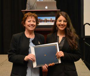 Olivia Silke With Award